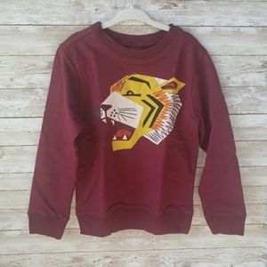 Tea Collection Sweatshirt with Embroidered Tiger